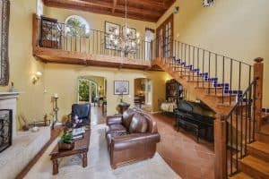 photo of living room staircase